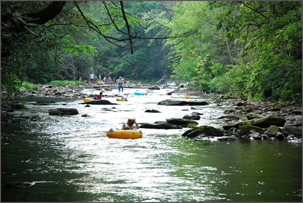 Davidson River Tubing is an exciting day on the water.  Come gem mining before or after your water adventure.
