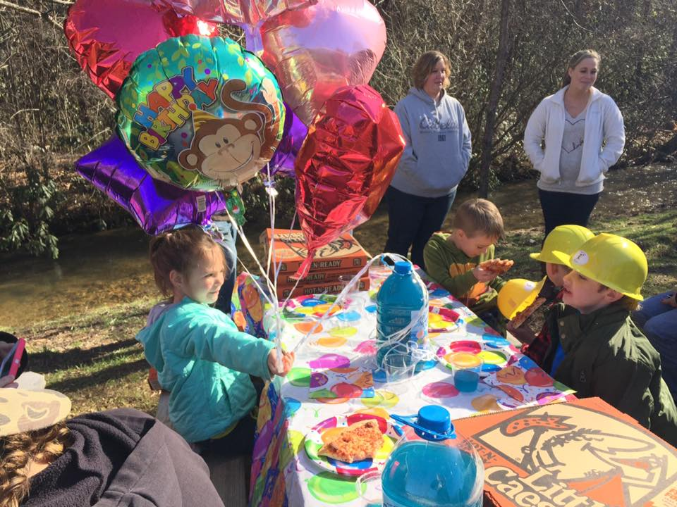 Birthday Party at the gem mine