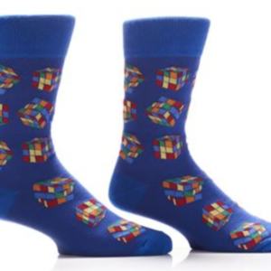 YO SOX MEN'S CREW SOCK, RUBIK'S CUBE #411696