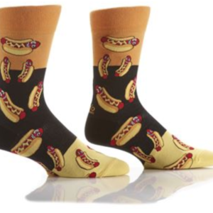YO SOX MEN'S CREW SOCK, HOT DOG #411703