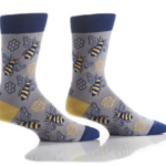 YO SOX MEN'S CREW SOCK, HONEY BEES #411704