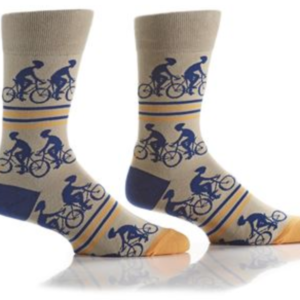 YO SOX MEN'S CREW SOCK, CYCLING #411711