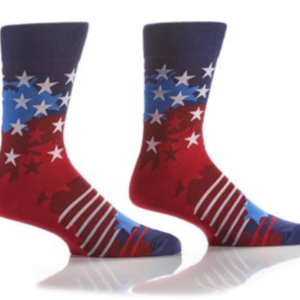 YO SOX MEN'S CREW SOCK, STARS & STRIPES #411715