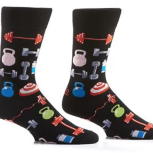 YO SOX MEN'S CREW SOCK, PUMPING IRON #411426