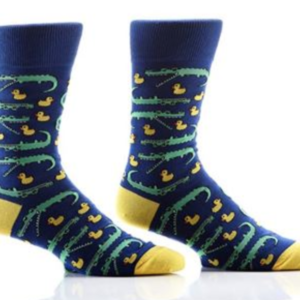 MEN'S CREW SOCK, ALLIGATORS & DUCKS #411452