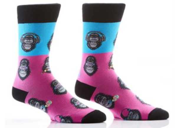 MEN'S CREW SOCK, COOL GORILLAS #411460