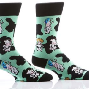 MEN'S CREW SOCK, COWS #411461
