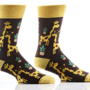MEN'S CREW SOCK, GIRAFFES #411469