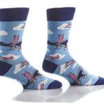 Yo Sox Men's Crew Sock Flying Pigs 411659
