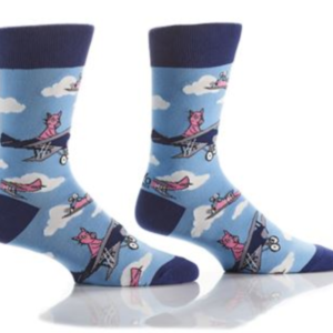 Yo Sox Men's Crew Sock Flying Pigs 411659