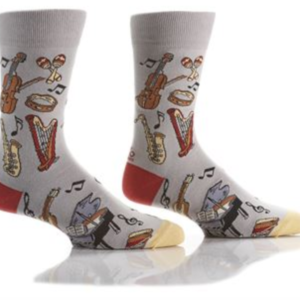 YO SOX MEN'S CREW SOCK, MUSIC APPRECIATION #411679