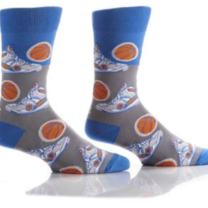 YO SOX MEN'S CREW SOCK, HOOPS #411680