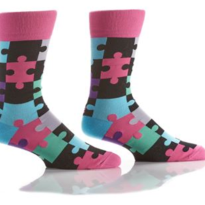 YO SOX MEN'S CREW SOCK, PUZZLE #411683
