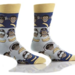 YO SOX MEN'S CREW SOCK, HIP CHIMP #411686
